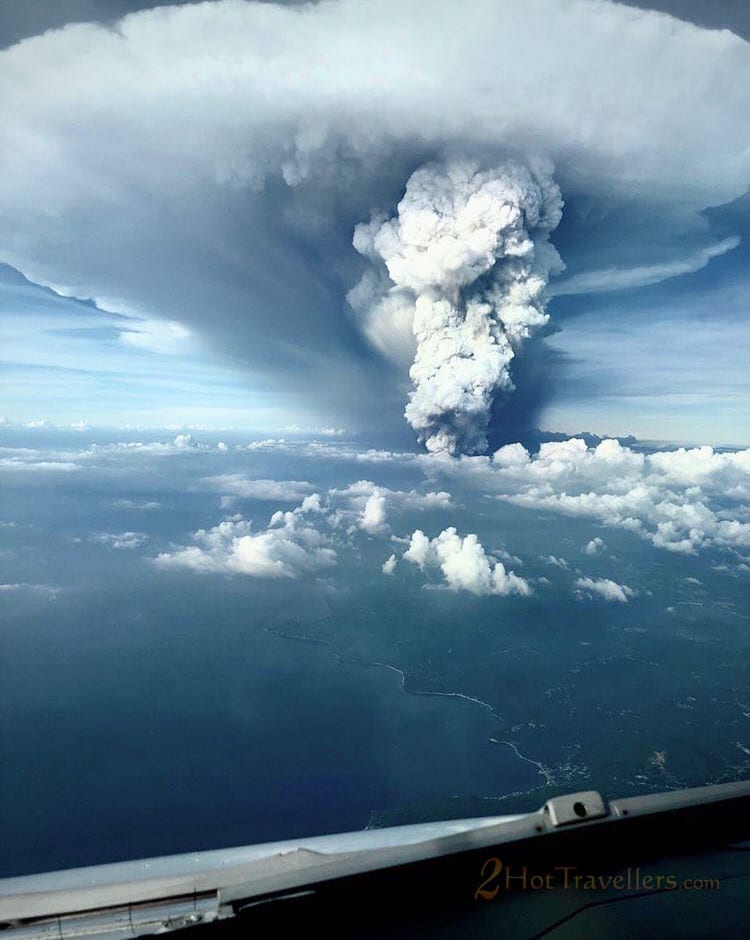 PAL pilot took Taal Volcano eruption above the clouds as he approached Manila