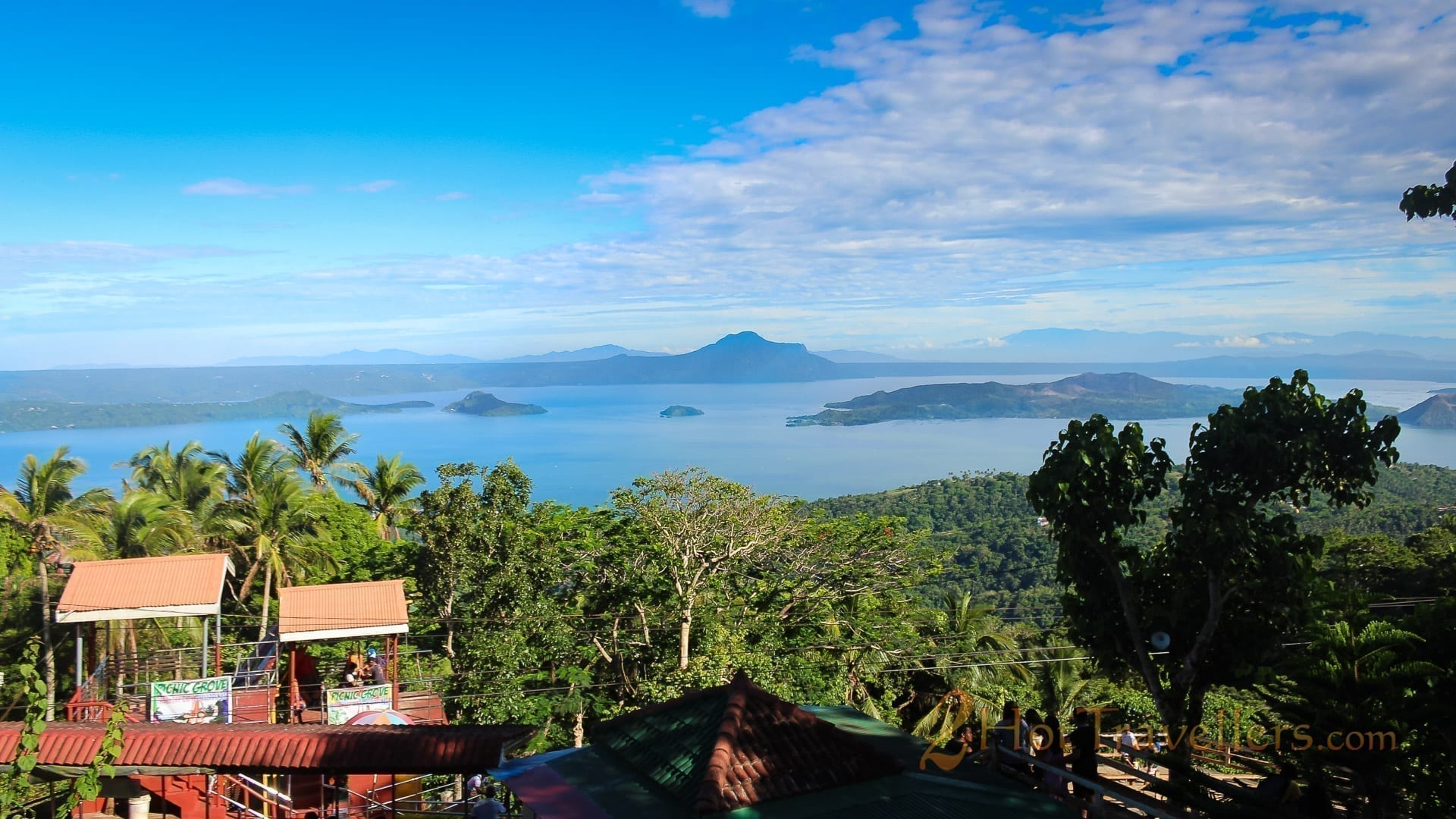 View of Taal Lake and volcano from Picnic grove Tagaytay